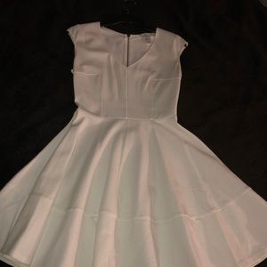 Women's white skater dress